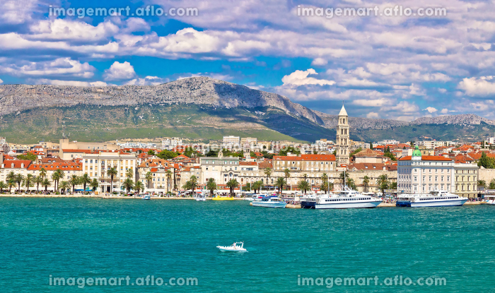 Split Riva waterfront view from seaの販売画像