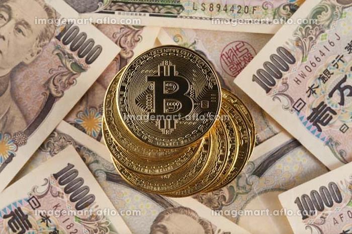 1万円札とビットコイン
