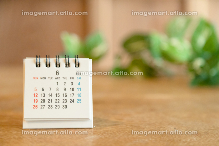 2022年6月の卓上カレンダーの販売画像