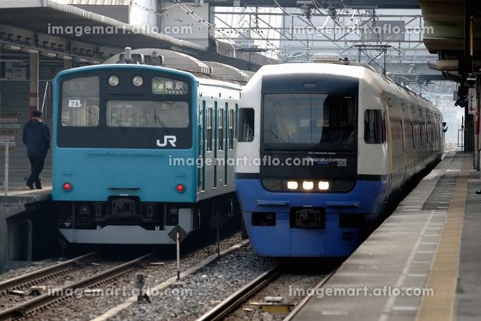 特急ビューわかしおと京葉線201系快速の販売画像