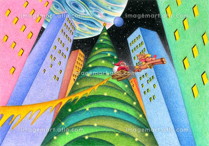 巨大なクリスマスツリーの販売画像