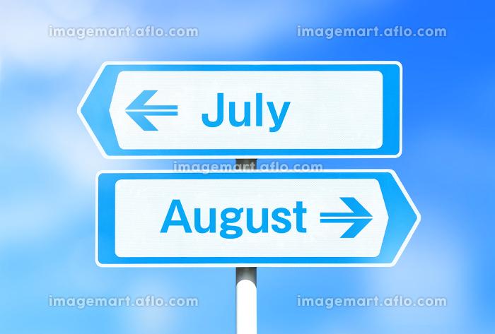 7月と8月の看板 7月が上の販売画像