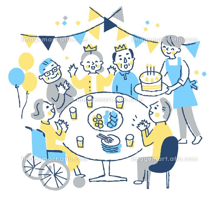老人ホーム(誕生日パーティー)の販売画像