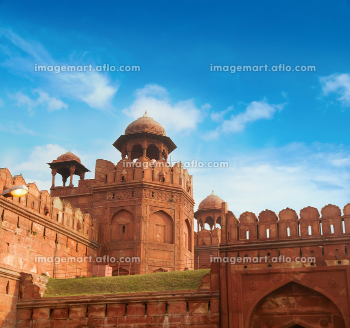 The Red Fort on sunny dayの販売画像