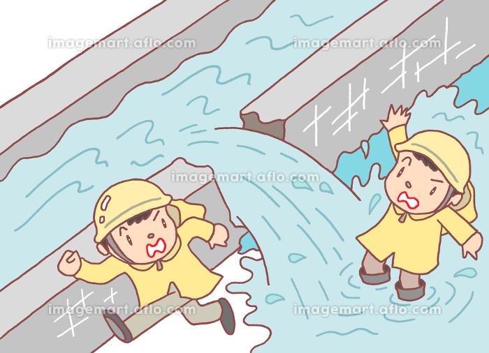 堤防決壊の販売画像