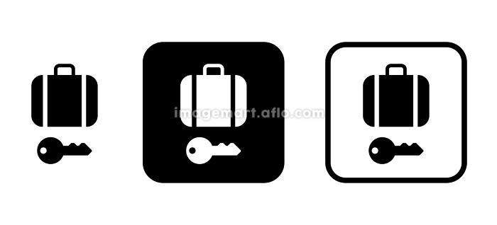 カバンと鍵 アイコンの販売画像