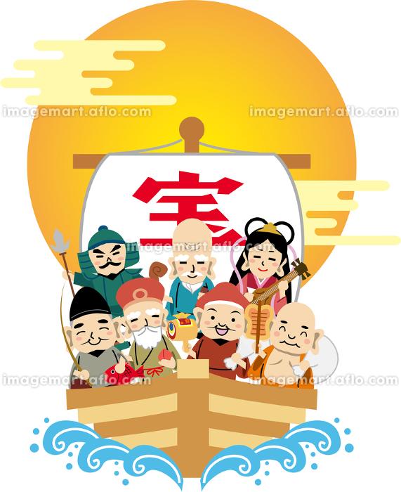七福神 年賀状 イラストの販売画像