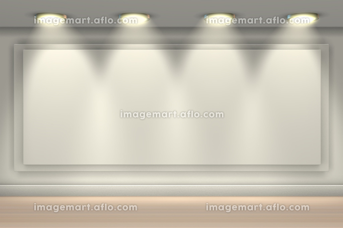 Wall brightly lit with spotlights and blank copy space for message. Wall brightly lit with spotlights and blank copy space -3d renderingの販売画像