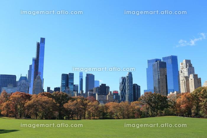 セントラルパーク シープメドウ 秋の装い ニューヨーク アメリカ合衆国の販売画像