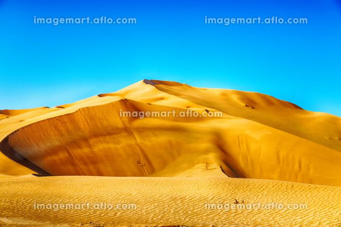 the empty quarter  and outdoor  sand  dune in oman old desert rub al khaliの販売画像