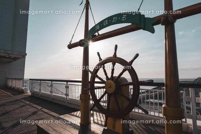 朝のアクアライン 海ほたるPAの光景の販売画像