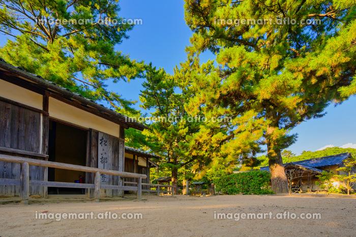 歴史的に有名な松陰神社の風景(山口県萩市)の販売画像