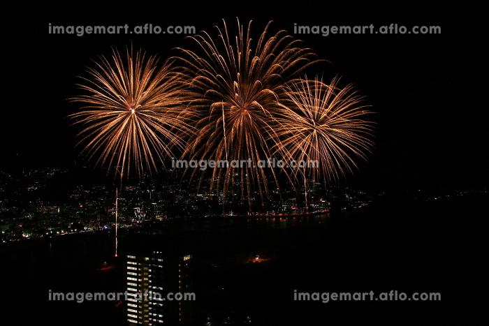 静岡県の熱海の花火。熱海海上花火大会。の販売画像