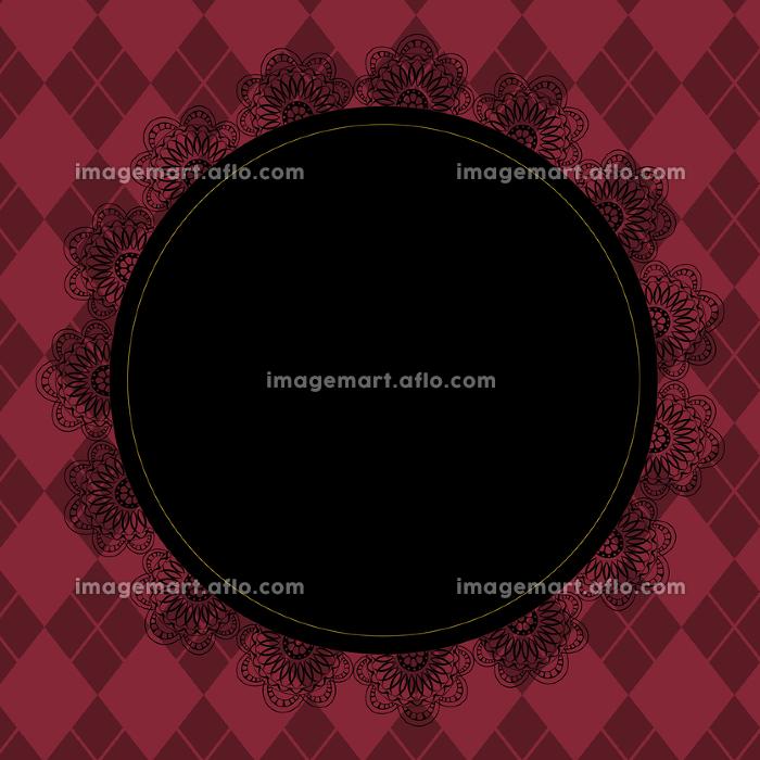 ゴシックなピンク色のチェック柄背景の販売画像