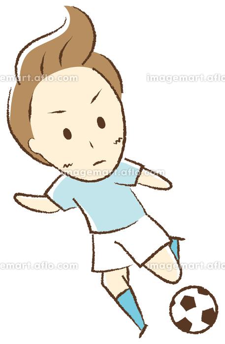 サッカーをする少年 キックの販売画像