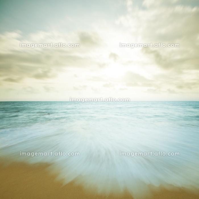 Vintage beach sunsetの販売画像