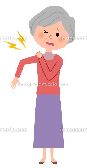 シニア女性 肩 痛みの販売画像