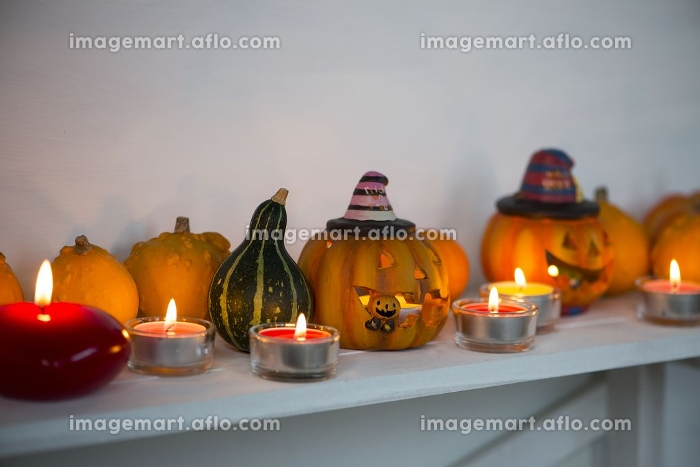 ハロウィンのカボチャの販売画像