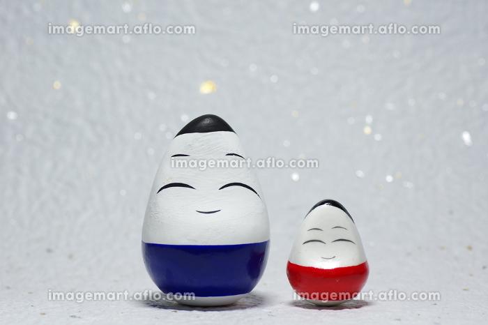 福島県会津地方の縁起物郷土玩具、起き上がり小法師の販売画像