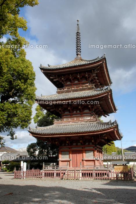 斑鳩寺 三重塔 兵庫県太子町の販売画像