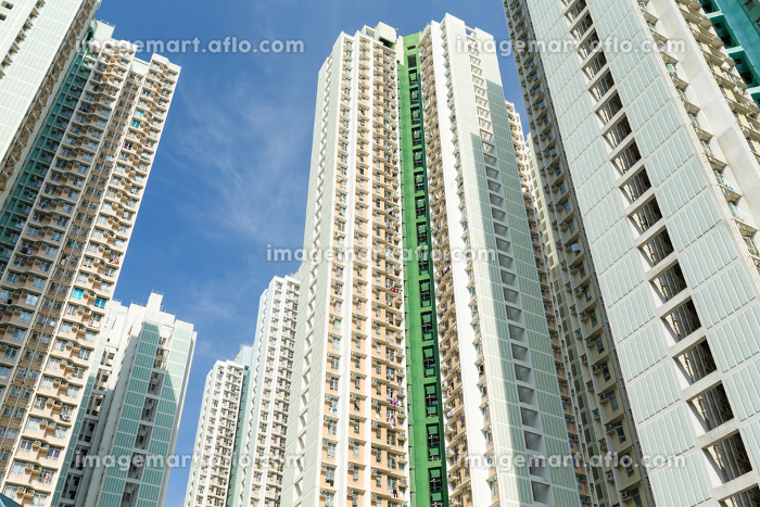 Public housing building to the skyの販売画像