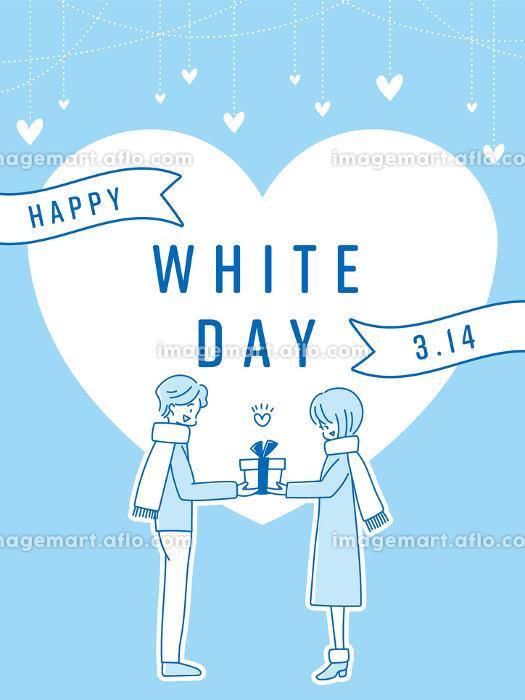 whiteday ホワイトデー ハート バナー POPの販売画像
