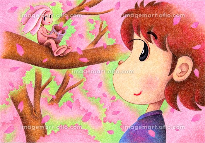 少女と桜の妖精の販売画像