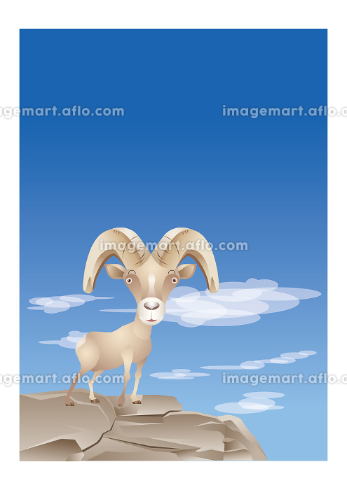 崖の上にいる山羊の販売画像