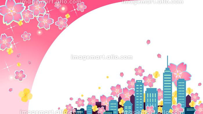 春の都市フレームの販売画像