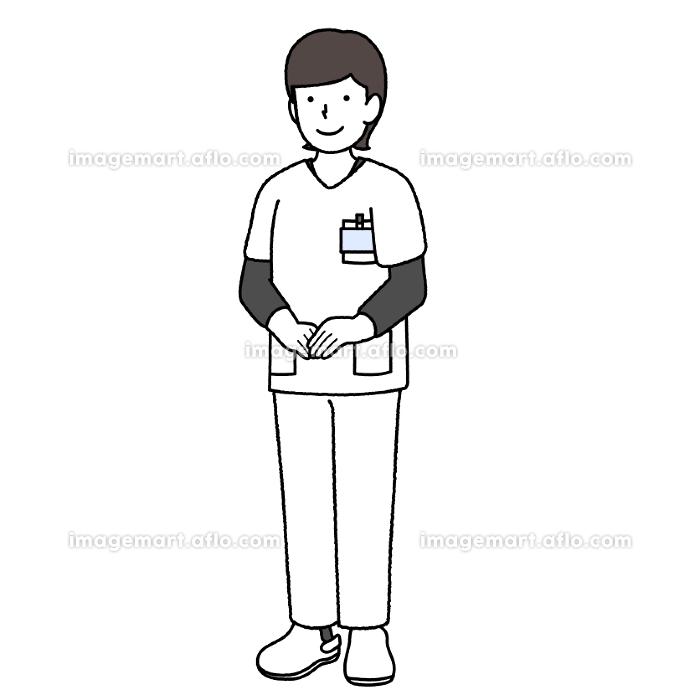 看護師の男性 : 手を下ろすの販売画像