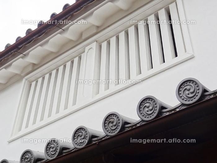 重要伝統的建造物群保存地区今井町の漆喰の壁の販売画像
