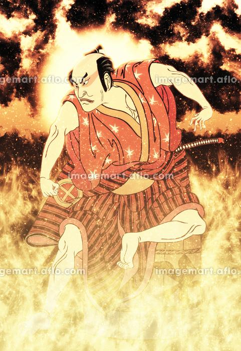 浮世絵 歌舞伎役者 その18 炎バージョンの販売画像