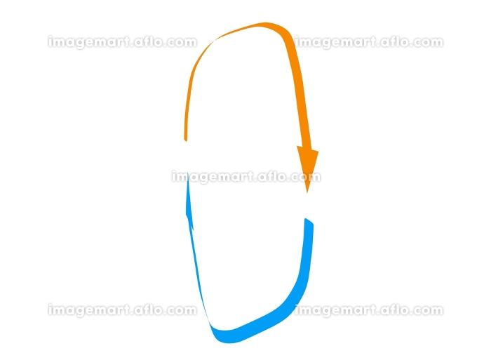 縦に回転するループの矢印素材の販売画像