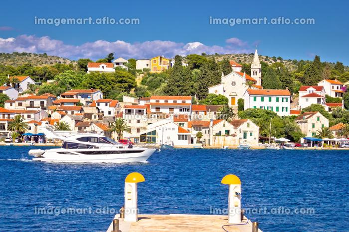 Luxury yacht and adriatic town of Rogoznicaの販売画像
