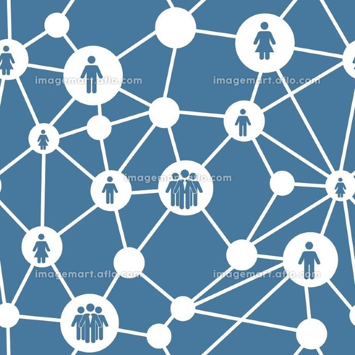 Social media concept seamless pattern vector illustration