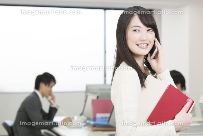 電話をするビジネスウーマンの販売画像