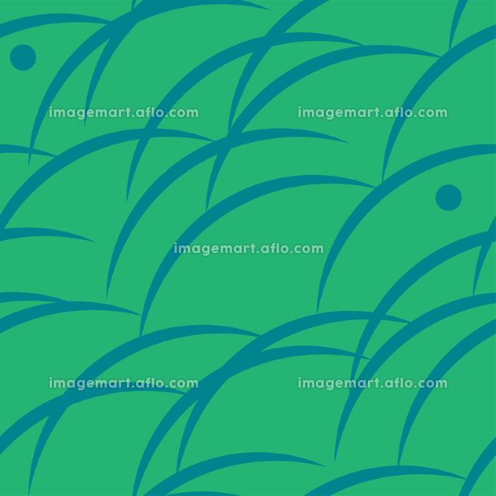 シームレス和柄 野山と霞 和風素材の販売画像