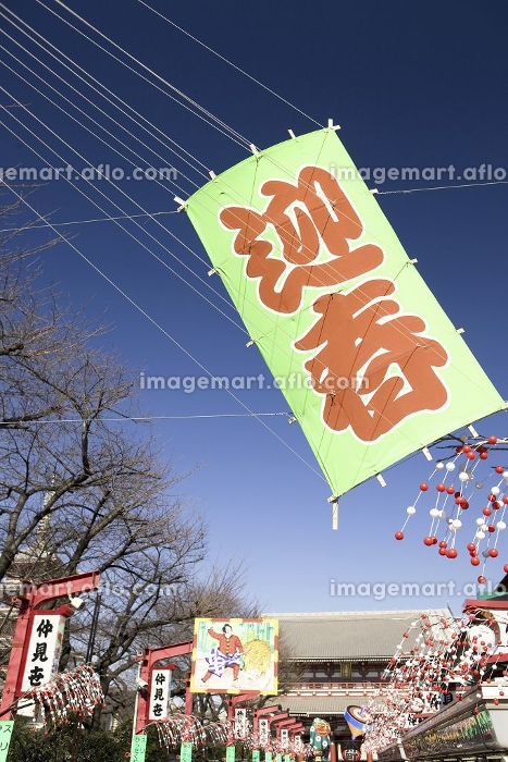正月の浅草仲見世の販売画像