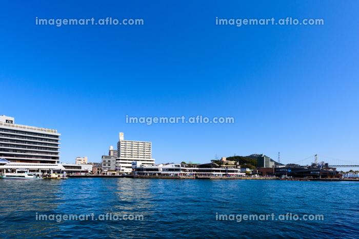 関門海峡を望む下関の有名な観光地の販売画像