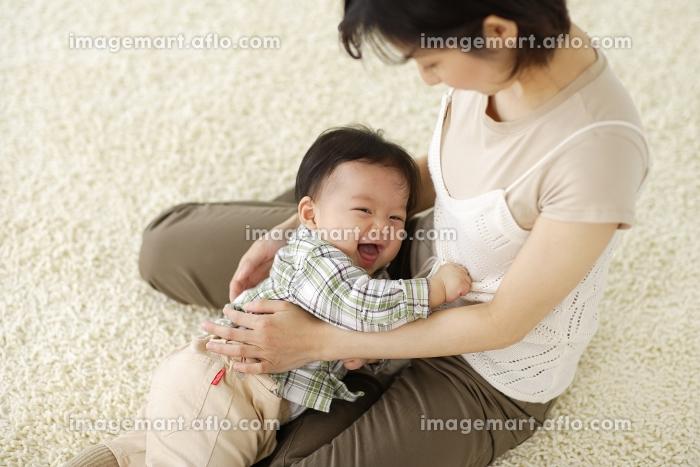 お母さんに甘える赤ちゃんの販売画像