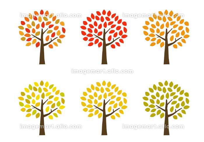 秋の紅葉の木 アイコンセットの販売画像