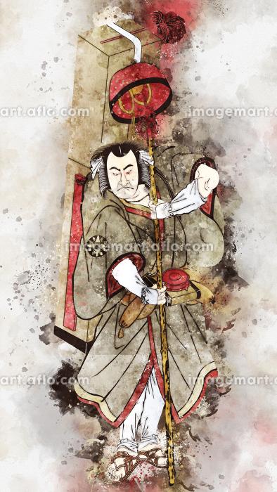 浮世絵 歌舞伎役者 その39 水彩バージョンの販売画像