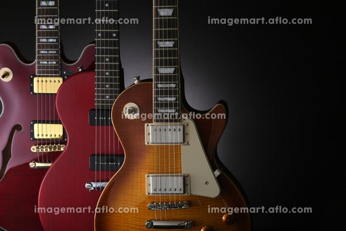 エレキギターの集合写真の販売画像