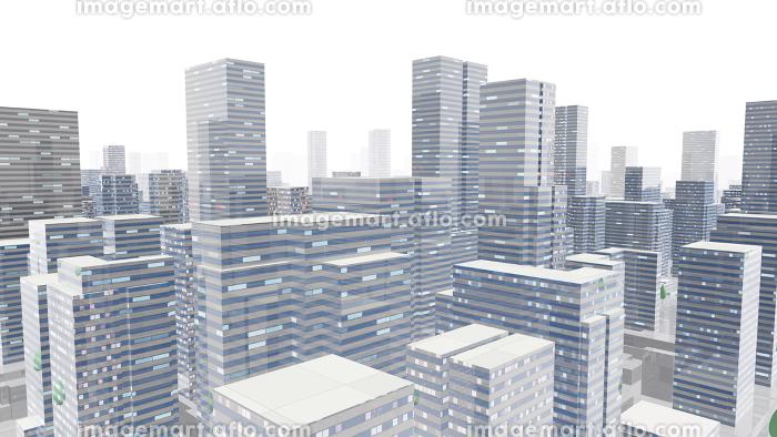 都市 街 ビル 建物 シティ オフィスビル ビジネス街 オフィス街 3D イラスト 背景 バックの販売画像