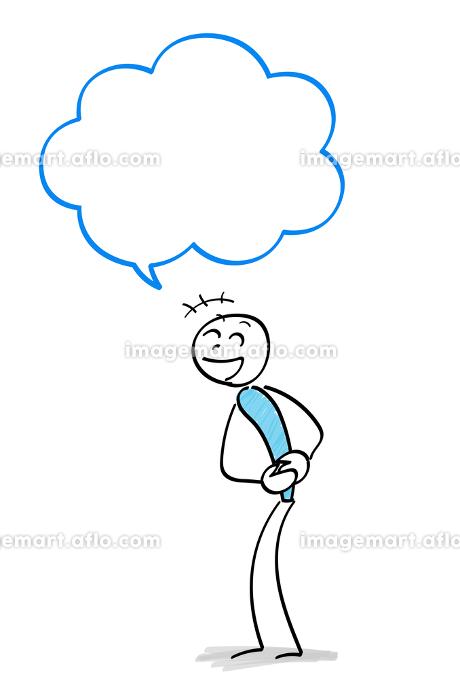 笑う人物と吹き出しの販売画像