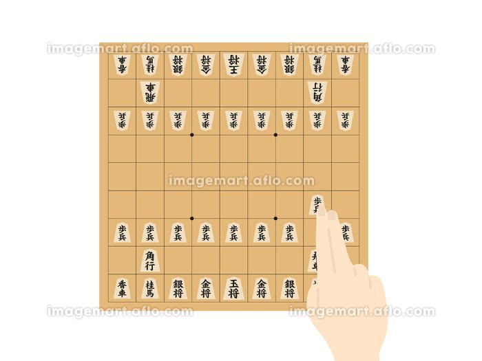 将棋をするイラストの販売画像