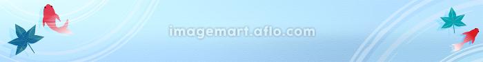 金魚と楓と波紋のお中元用バナー 468x60の販売画像