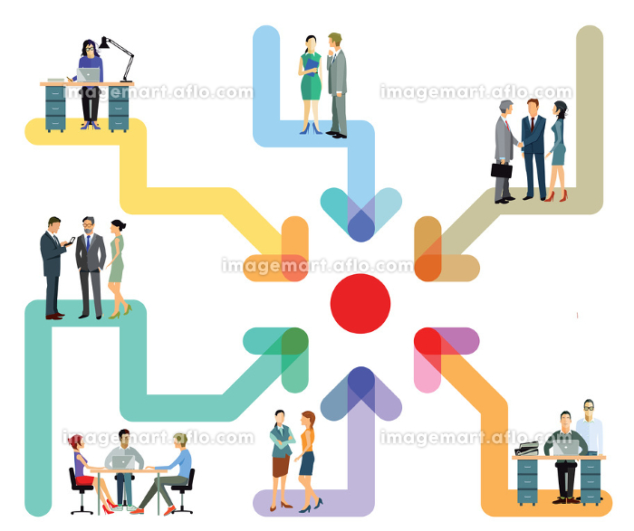 employees working together in officeの販売画像