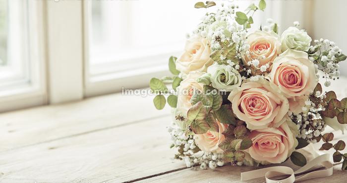 Bridal bouquet idea with copy spaceの販売画像