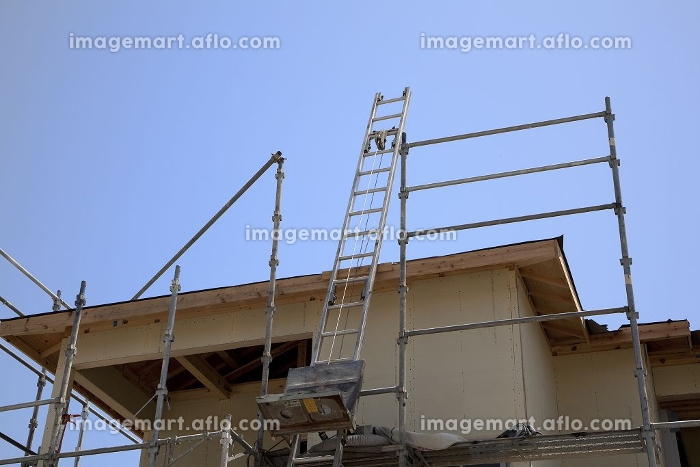 住宅新築工事現場の販売画像